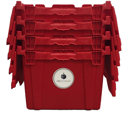 YYC Storage Boxes - 4 red storage boxes