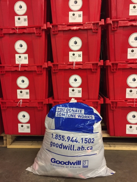 Goodwill partnership with YYC Storage