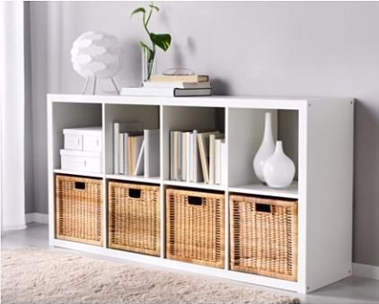 IKEA wicker boxes for seasonal storage items