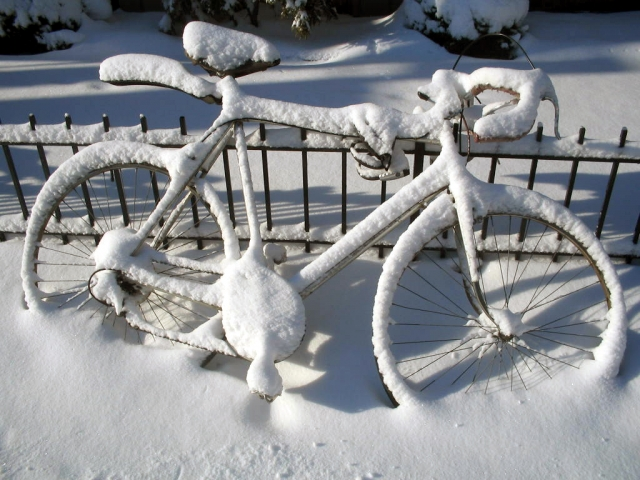 winter bike storage options